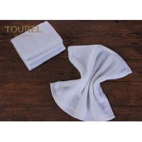 China 100% Cotton16s Hotel Face Towel White Terry Face Cloth With Embroidered Logo wholesale