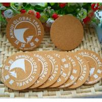 China Square waterproofing mdf cork coaster custom logo printing wooden coaster wholesale