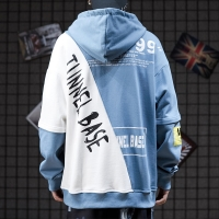 China 75% Cotton Unlined Men Cool Hoodies Hiphop Loose Gothic Print Hoodie wholesale