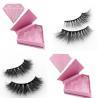China Private label mink eyelashes strip lashes with custom eyelash box wholesale