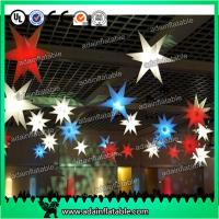 China Beautiful 210T Polyester Cloth LED Lighting Inflatable Star a wholesale