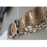 China Coat Lining Accessories Rex Rabbit Skin Smooth Natural Brown Color 25*35cm wholesale