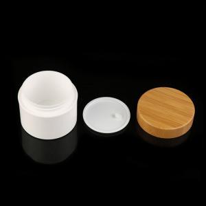 China Pp Serum Eco Friendly Bamboo Lid Cosmetic Cream Jar wholesale