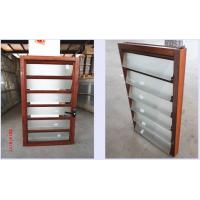 Glass Vertical Louvered Window Shutters Interior Double Toughened Glazing Of Aluminiumglasswindows