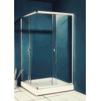 China 77 inch 900x900 Square Shower Enclosure , Enclosed Shower Cubicles Top Double Rollers wholesale