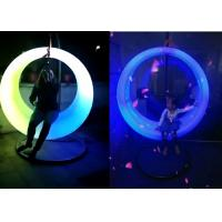 China Battery Power Outdoor LED Light Furniture Circle Lighting Swing For Plaza Park Decoration wholesale