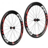 China 700c Carbon Fiber Bike Wheels Tubular 60mm Depth 23mm 25mm Wide Straight Pull wholesale