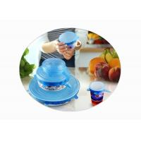 China Stretchable Silicone Food Covers , Silicone Lid Covers For Bowls / Pots / Cups wholesale