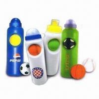 China Soccer Ball Water Bottles, Made of PE or PP, Suitable for Promotional Purposes wholesale