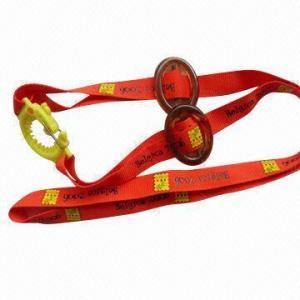 China Bottle holder neck lanyard/polyester promotional strap for birthday giveaways, custom printed logo wholesale