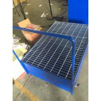 China Galvanized Steel Pallet Spill Containment Drum Platform For Multi Drums Storing trolley wholesale