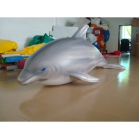 Buy cheap 1.5m Long Airtight Dolphin Shaped Swimming Pool Toy Display In Showroom from wholesalers