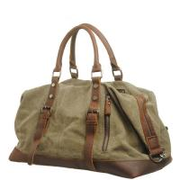 China Large Capacity Canvas Luggage Travel Bags with Leather Vintage Sport Handbag wholesale
