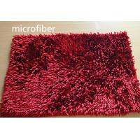 China Microfiber Mat Red 40 * 60cm Big Chenille Bathroom Indoor Anti - skid Rubber wholesale