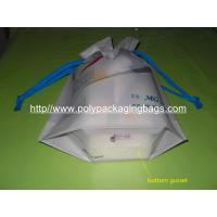 Personalized CPE / LDPE Drawstring Plastic Bags For Girls Underwear / Bra /