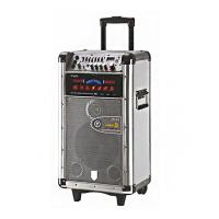China Battery Powered Portable Bluetooth Trolley Speaker Sound System For Instrument wholesale