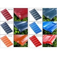 China Color coated corrugated asa pvc synthetic resin spanish style roof tile wholesale