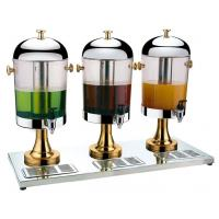 China Chrome or gold plating stainless steel juice dispenser for three tank wholesale