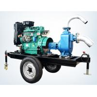 China trailer mounted 20hp diesel engine water pump set for agricultural irrigation 100m3 / h wholesale