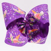 China Purple Glitter Large Hair Bows , Eco Friendly Personalized Hair Bows wholesale