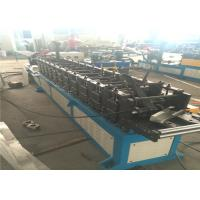 China Column Door Frame Roll Forming Machine 14mm Plate Gear Driving PLC Controller wholesale