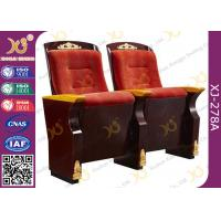 China Original Wooden Decoration Church Hall Chairs / Auditorium Theater Seating wholesale