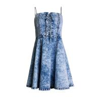 Buy cheap Women High Waist Slimming Casual Summer Day Dresses Tube Top Sexy Ruffled Sling from wholesalers