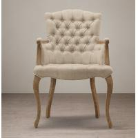 Wooden upholstered fabric dining chair tufted high back for High back dining room chairs