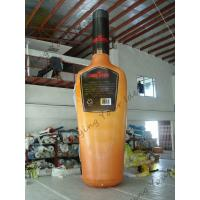 China Yellow Giant Inflatable Beer Bottle / Advertising Custom Inflatable Balloons wholesale