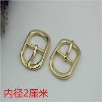 China Fashion popular hardware accessories 20 mm zinc alloy gold oval pin buckle for shoes clothing hardware accessories wholesale
