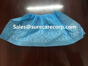 China Non slip disposable non skid non woven shoe covers on sale