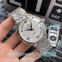 Buy cheap High Quality Omega De Ville Replica Watch SS men's luxury Silver Bezel at from wholesalers