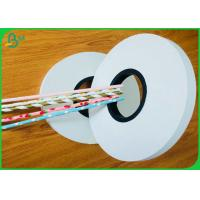 Buy cheap 100% Safe FDA Slitted Straw Paper Roll With Colorful Pattern from wholesalers