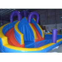 China Safe Double Lanes Children ' s Inflatable Water Slide Outdoor Amusement Park OEM Service on sale
