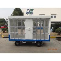 China Waterproof White Airport Ground Support Equipment Luggage Carrier Cart With Canopy wholesale