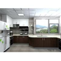 China Modern Black / White Painting Wood Veneer Kitchen Cupboards Big Size For Home wholesale