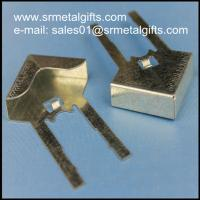 China Tailored steel stamping corner clips, precison spring clamp clasp wholesale