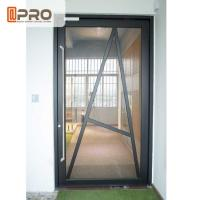 China Tempered Glass Pivot Front Door , Aluminium Contemporary Entrance Doors wholesale