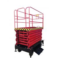 China 1.5Kw 9 meters hydraulic mobile boom lift for painting, cleaning on sale