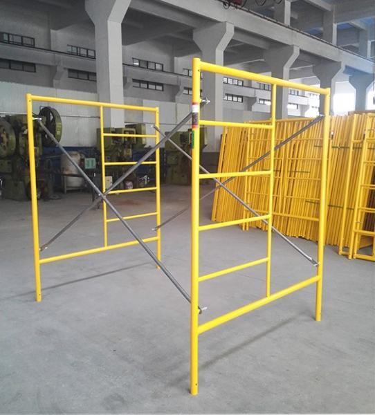Long Span Scaffolding : Construction structural steel walk through frame
