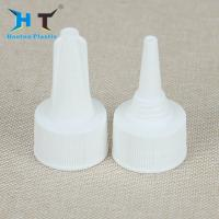 China White Color Twist Off Plastic Push Pull Caps 20 / 410 24 / 410 Neck Size wholesale
