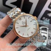 Buy cheap High Quality Omega De Ville Replica Watch SS-Yellow Gold Bezel White Dial from wholesalers