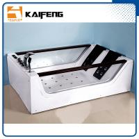 China Double Glass Apron Jacuzzi Whirlpool Bath Tub With Air Switch Control wholesale