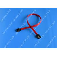 Buy cheap 26 AWG SATA III 6.0 Gbps Female to Female SATA Data Cable , Red HDD SATA Cable 7 Pin from wholesalers
