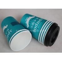 China Take Away Disposable Paper Coffee Cups Custom Printed Single / Double PE Coated wholesale