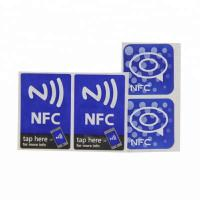China ISO14443A Rewritable Nfc Smart Tags / Adhesive Waterproof Nfc Stickers on sale
