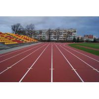 Outdoor 400 Meter Recycled Rubber FlooringTrack With 8 Years Lifespan
