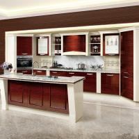 China Custom Wooden Veneer Kitchen Cupboards High Pressure Built In Traditional Style wholesale