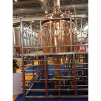 China Red Copper Commercial Beer Brewing Equipment 100MM Insulation Thickness wholesale