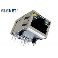 """30 U"""" Gold Plating RJ45 Single Port Tab Up Magnetic Wiith Green Yellow LED"""